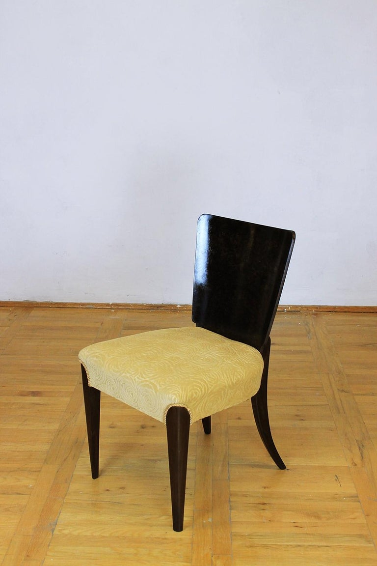 Set of Six Art Deco Model H 214 Chairs by Jindrich Halabala for UP Zavody, 1930s In Good Condition For Sale In Debrecen-Pallag, HU