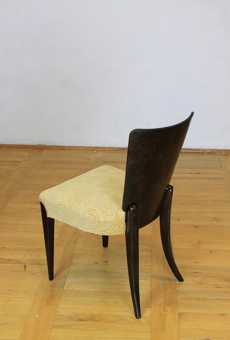 20th Century Set of Six Art Deco Model H 214 Chairs by Jindrich Halabala for UP Zavody, 1930s For Sale