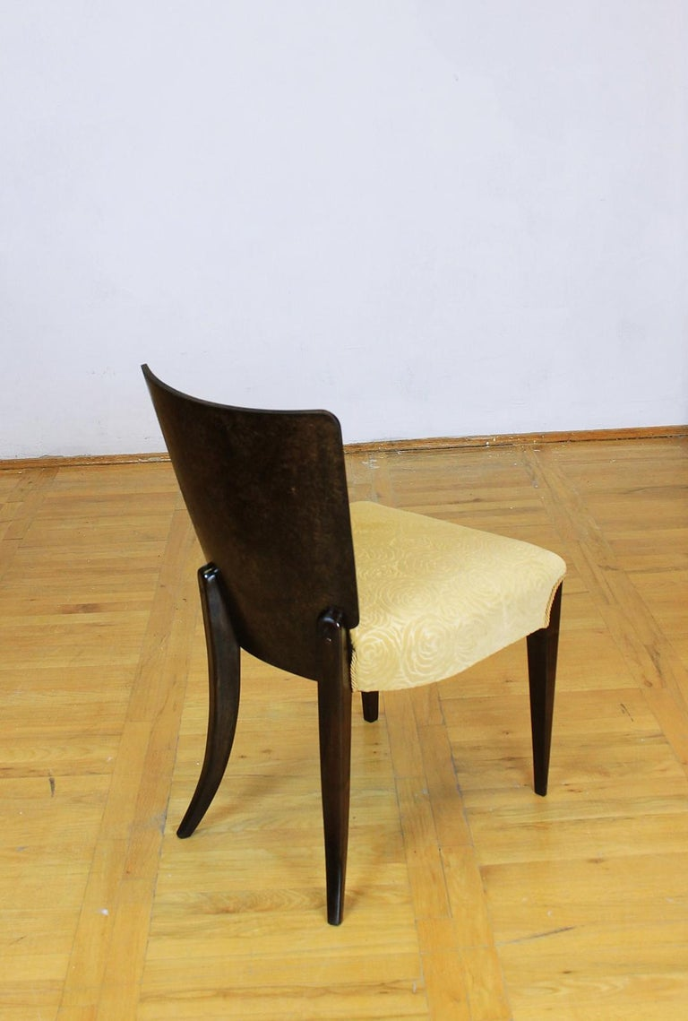 Fabric Set of Six Art Deco Model H 214 Chairs by Jindrich Halabala for UP Zavody, 1930s For Sale