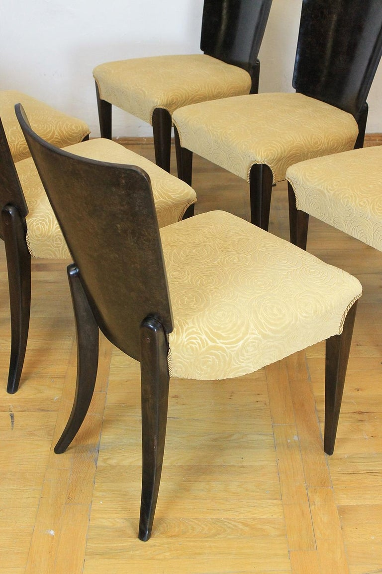 Set of Six Art Deco Model H 214 Chairs by Jindrich Halabala for UP Zavody, 1930s For Sale 2
