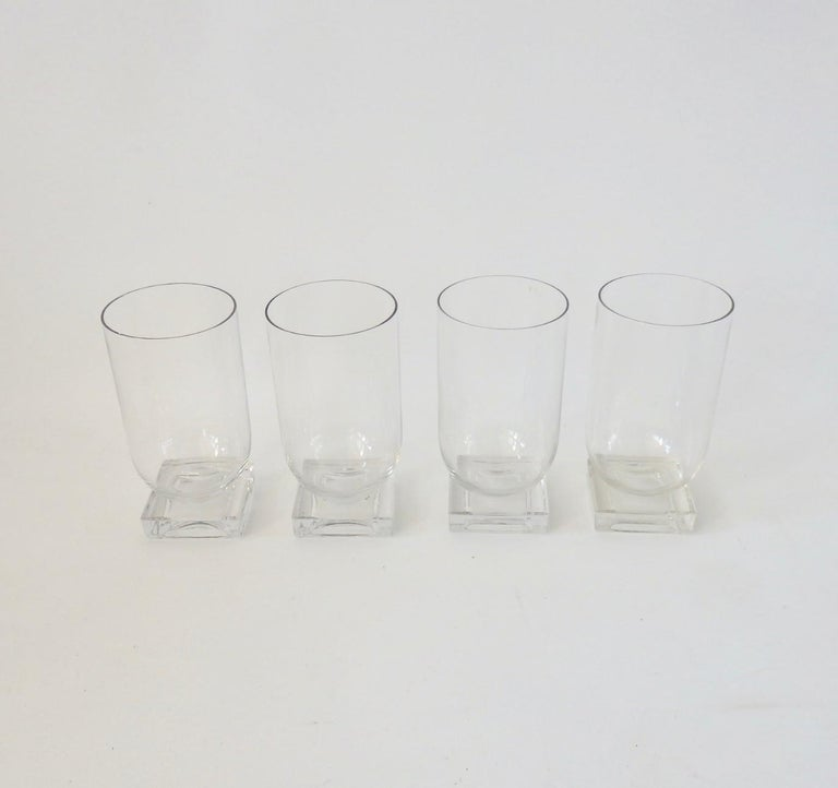 Set of Six Art Deco Moderne Water Glasses Tumblers For Sale 2