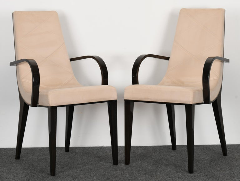 Set of Six Art Deco Style Dining Chairs by Pietro ...
