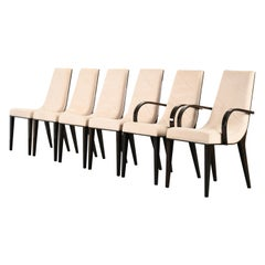 Set of Six Art Deco Style Dining Chairs by Pietro Costantini, 1980s