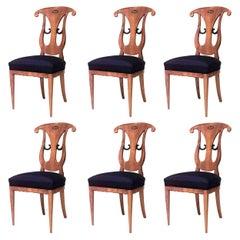 Set of Six Austrian Biedermeier Side Chairs