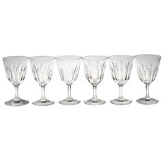 Set of Six Baccarat Crystal 'Verone' Pattern Sherry or Port Glasses, circa 1950s