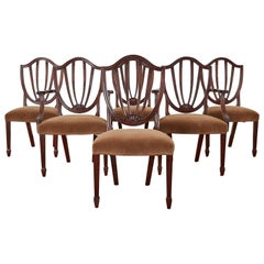 Set of Six Baker Charleston Collection Mahogany Dining Chairs