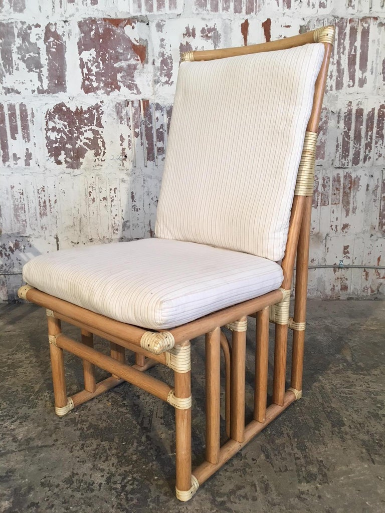 Set of Six Bamboo Dining Chairs by Kipp Stewart for Summit Furniture For Sale 5