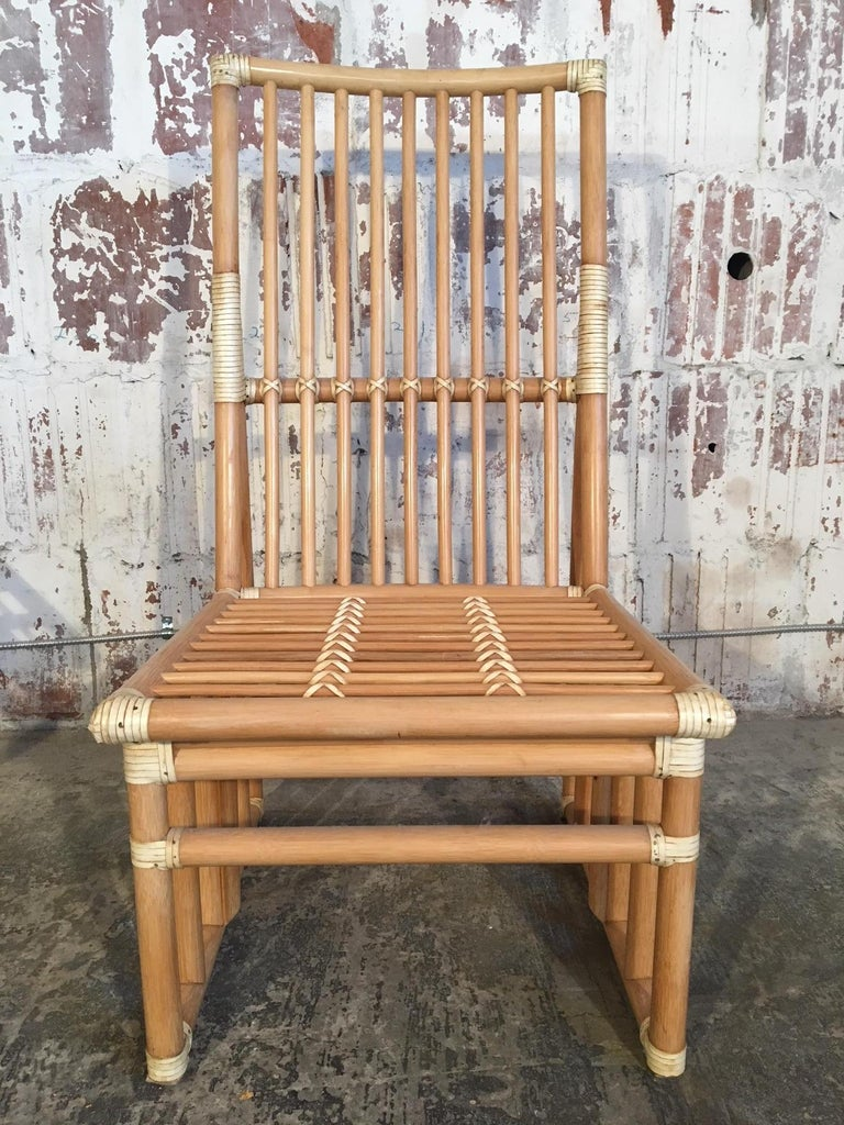 American Set of Six Bamboo Dining Chairs by Kipp Stewart for Summit Furniture For Sale