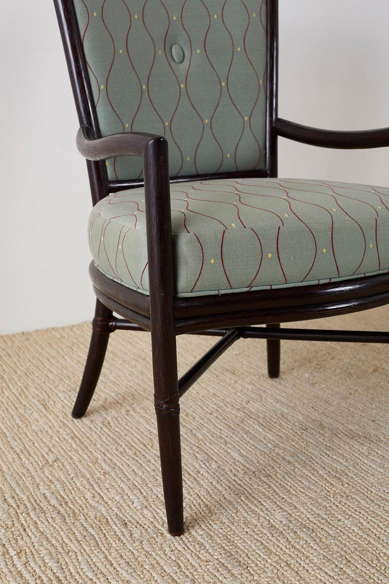 Set of Six Barbara Barry for McGuire Rattan Dining Chairs For Sale 4