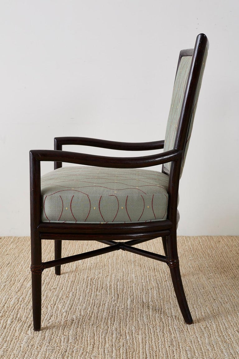 Set of Six Barbara Barry for McGuire Rattan Dining Chairs For Sale 5