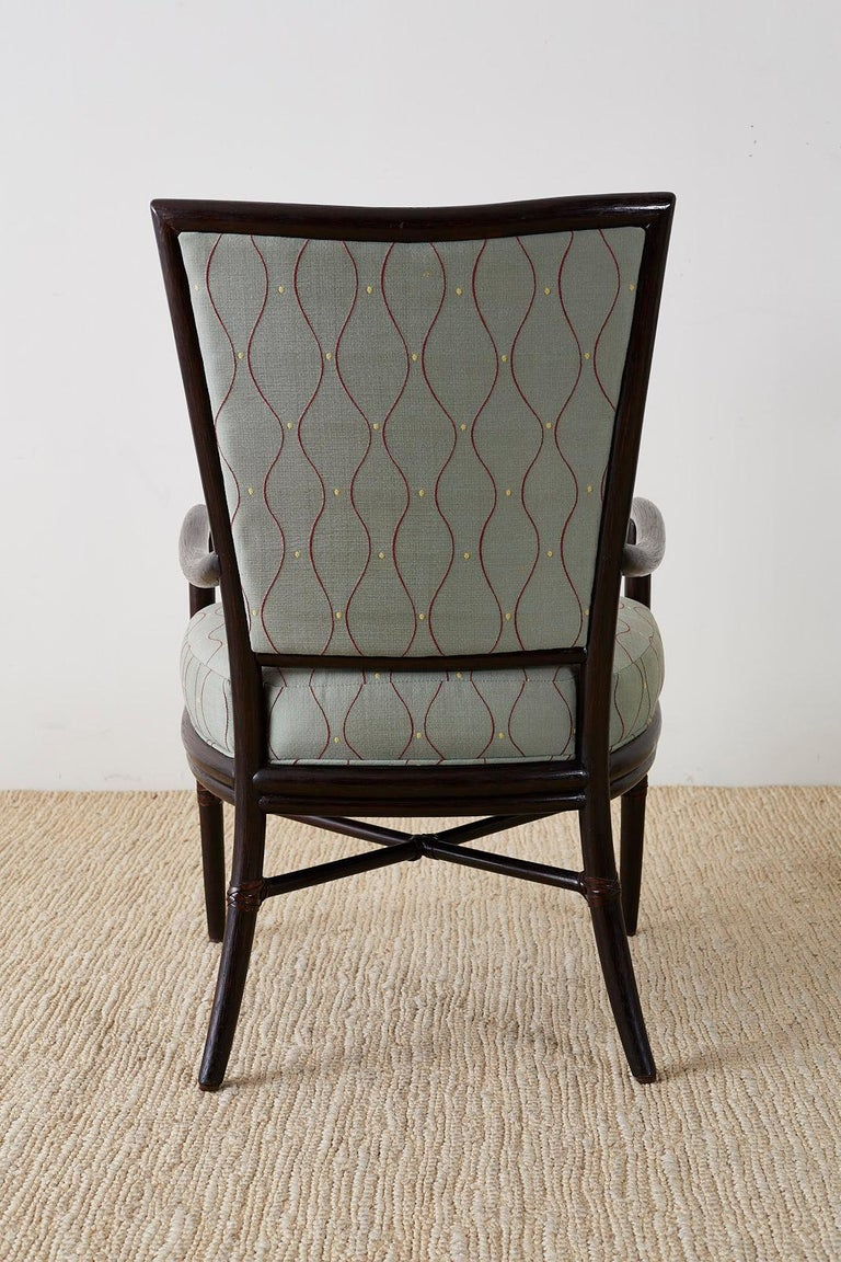 Set of Six Barbara Barry for McGuire Rattan Dining Chairs For Sale 6