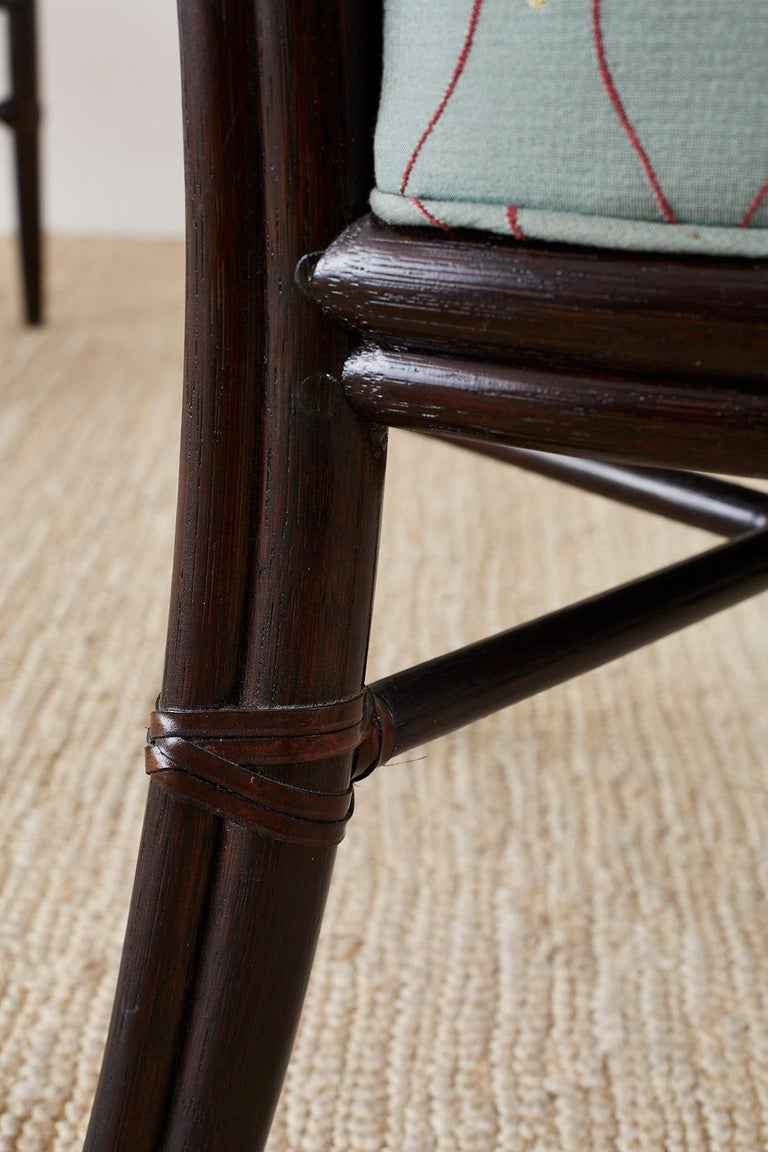 Set of Six Barbara Barry for McGuire Rattan Dining Chairs For Sale 9