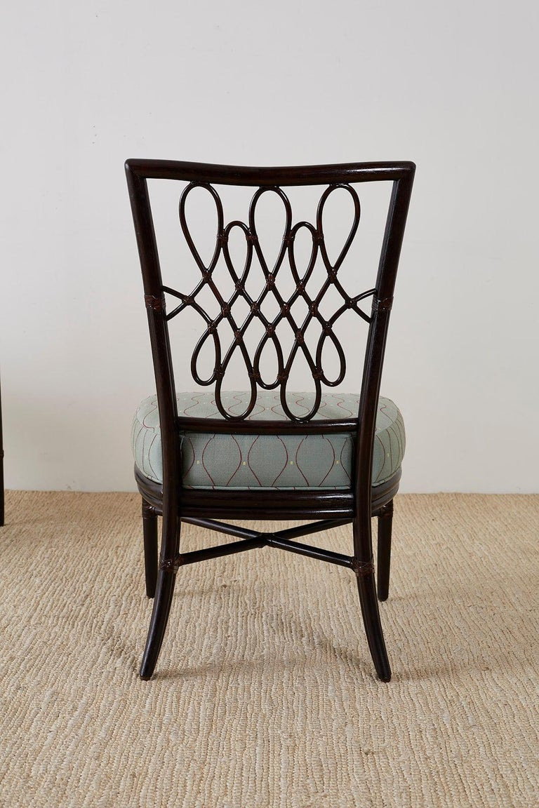 Set of Six Barbara Barry for McGuire Rattan Dining Chairs For Sale 10