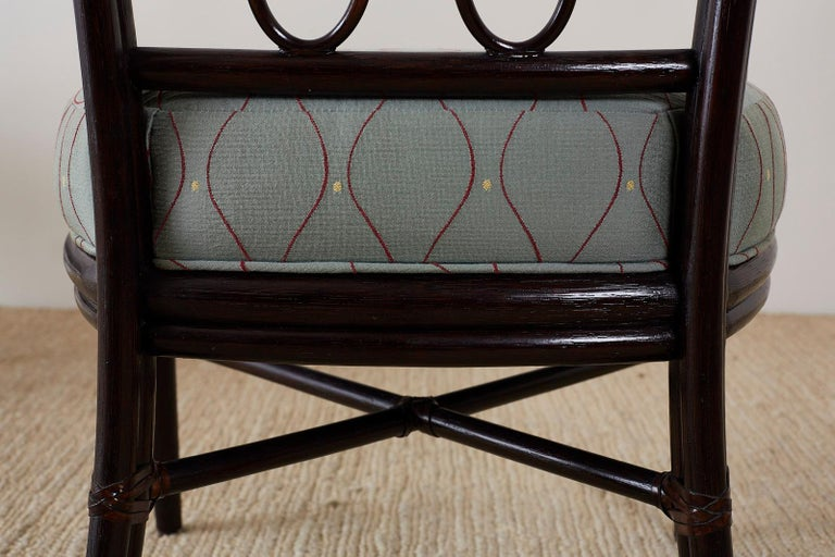 Set of Six Barbara Barry for McGuire Rattan Dining Chairs For Sale 11
