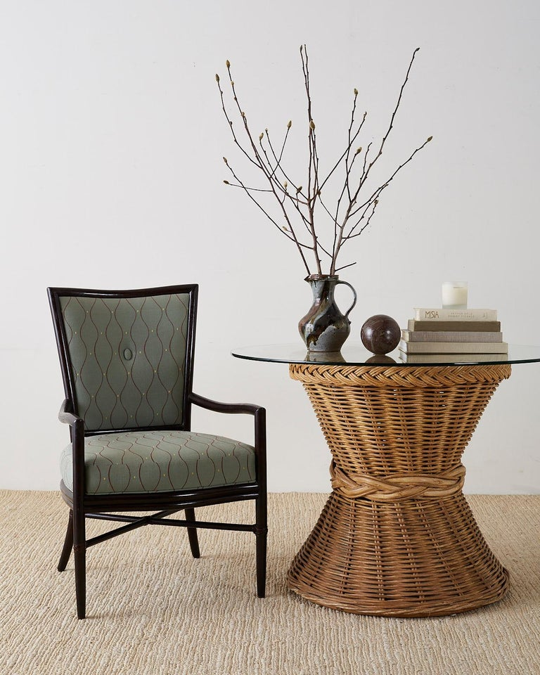 Set of Six Barbara Barry for McGuire Rattan Dining Chairs For Sale 13