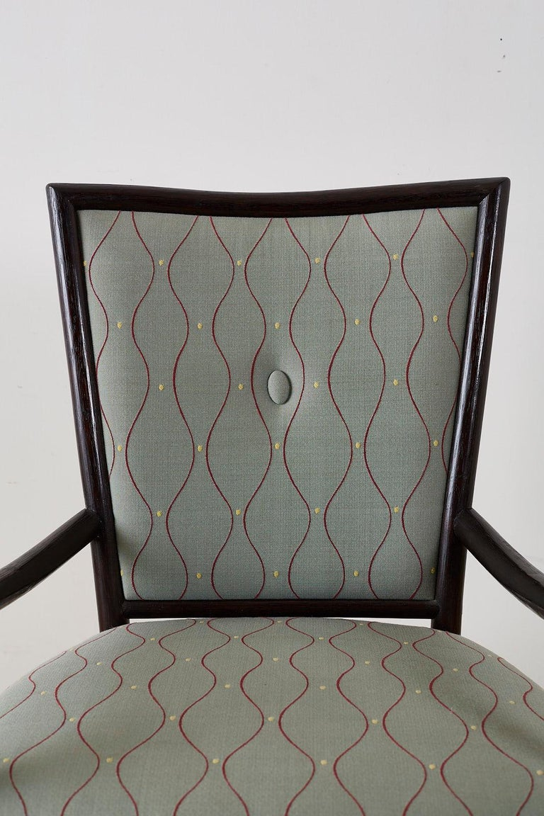 Set of Six Barbara Barry for McGuire Rattan Dining Chairs For Sale 2