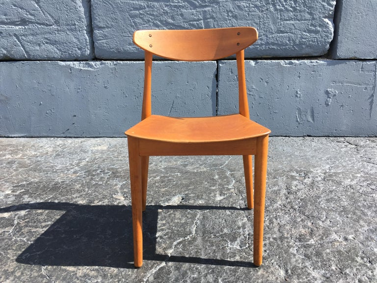 Set of Six Beautiful Bentwood Danish Dining Chairs For Sale 4