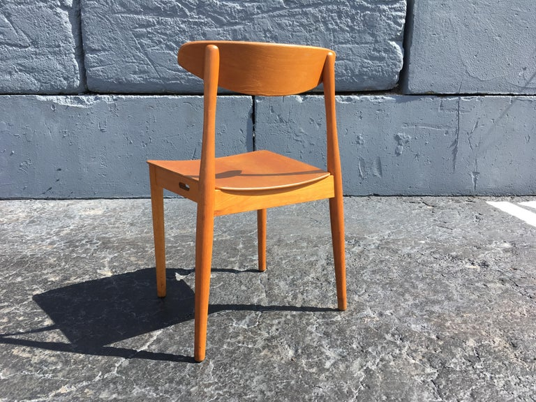 Set of Six Beautiful Bentwood Danish Dining Chairs For Sale 6