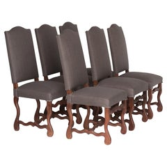 Set of Six Belgian Dining Chairs, circa 1900