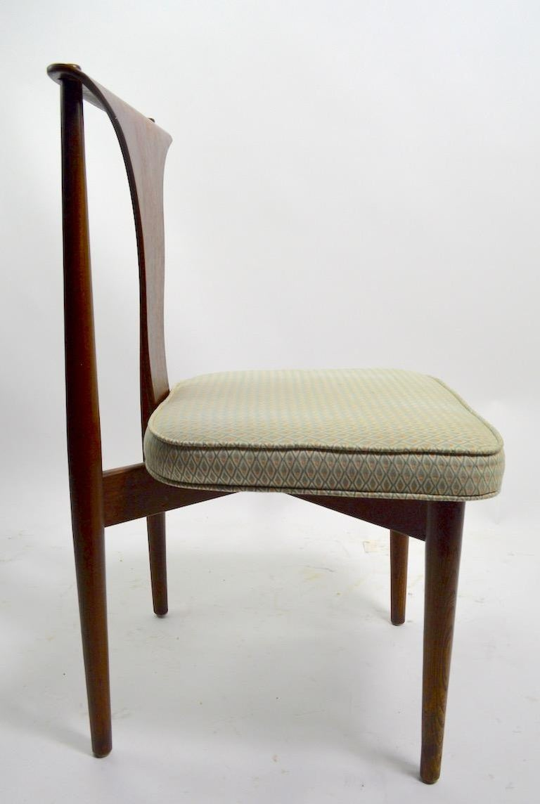 Mid-Century Modern Set of Six Bent Plywood Dining Chairs by Lawerence Peabody
