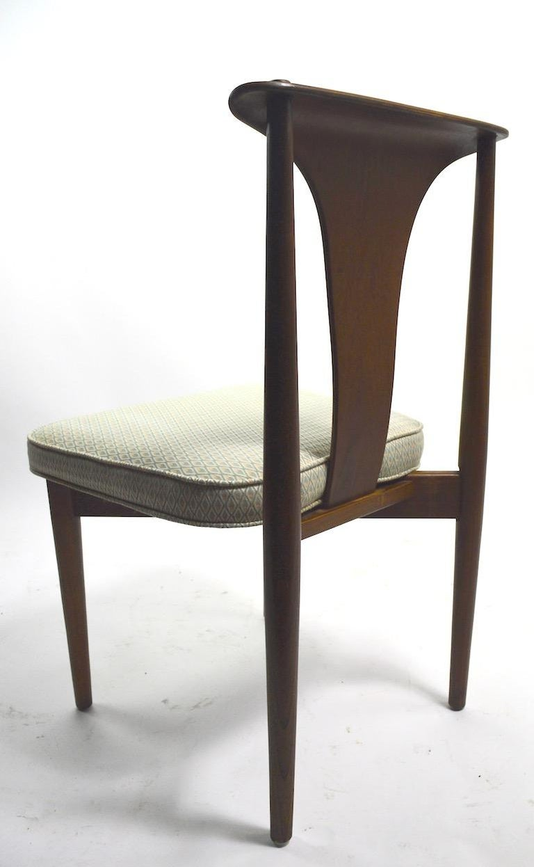 Set of Six Bent Plywood Dining Chairs by Lawerence Peabody In Good Condition In New York, NY