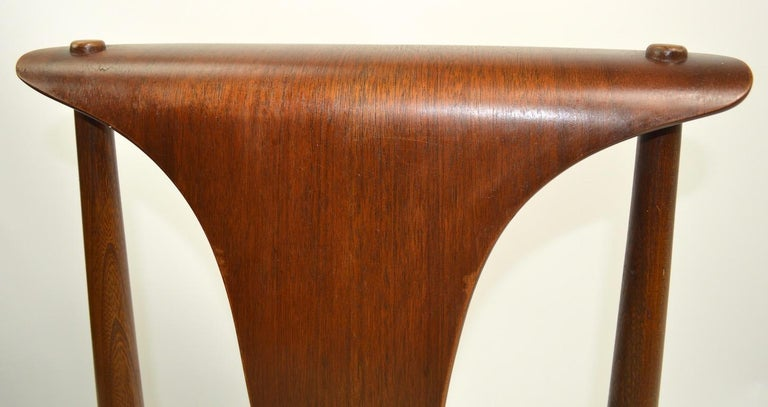 20th Century Set of Six Bent Plywood Dining Chairs by Lawerence Peabody