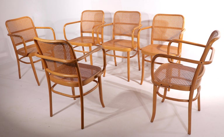 Set of Six Bentwood Chairs by Hoffman for Stendig In Good Condition For Sale In New York, NY