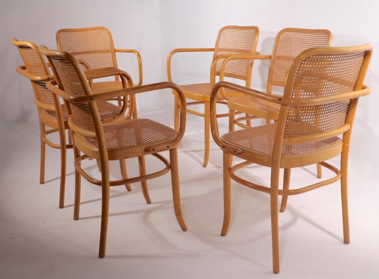 20th Century Set of Six Bentwood Chairs by Hoffman for Stendig For Sale
