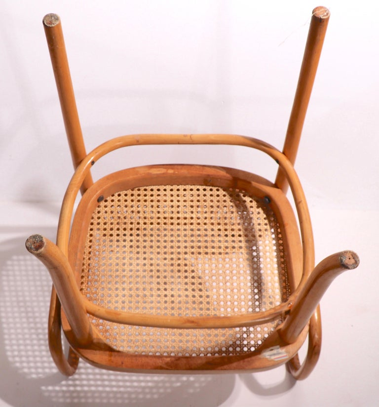 Set of Six Bentwood Chairs by Hoffman for Stendig For Sale 1