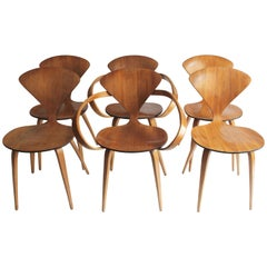 Set of Six Bentwood Chairs by Norman Cherner for Plycraft