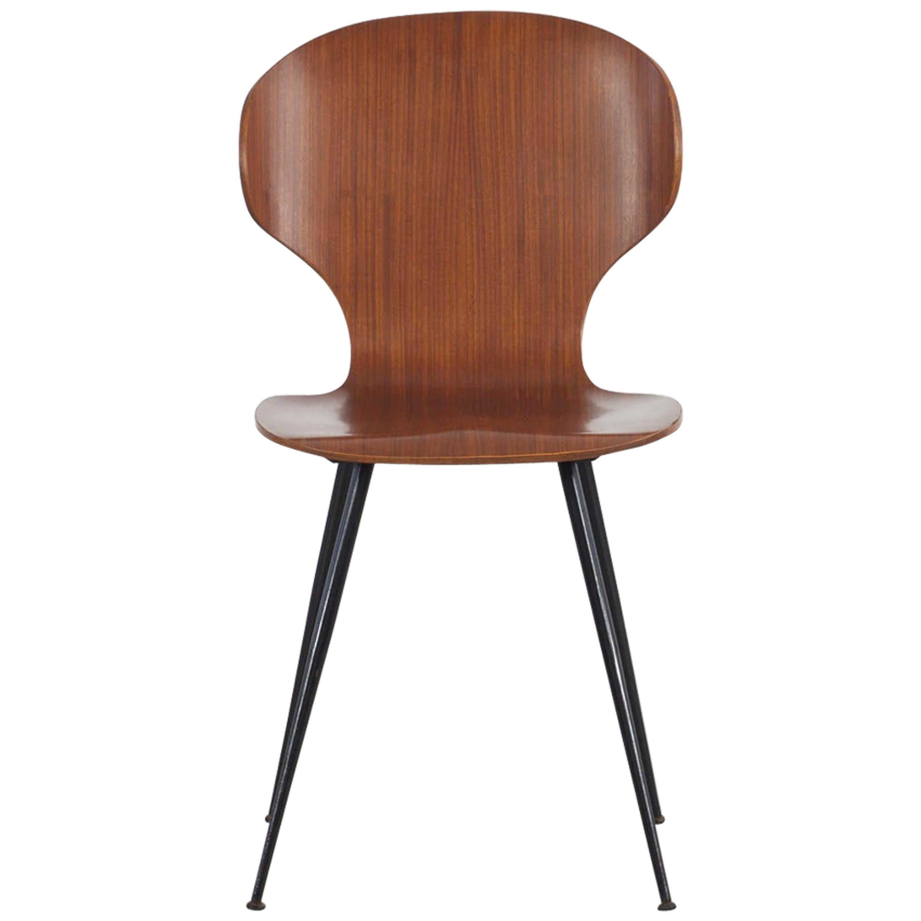 Set of Six Bentwood Chairs, Design by Carlo Ratti, Italy, 1950s