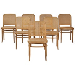 Set of Six Bentwood Dining Chairs Josef Hoffmann Style