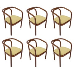 Set of Six Bentwood Dining Chairs Ton, 1992