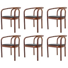 Set of Six Bentwood Dining Chairs Ton, Czechoslovakia