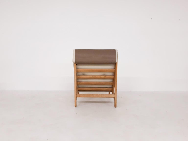 Set of Six Bernt Petersen Oak Lounge Chairs with Outdoor Fabric, Denmark, 1965 For Sale 4