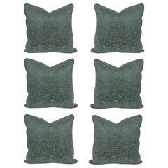 Set of Six Bespoke Silk Cushions
