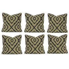 Set of Six Bespoke Wool Cushions