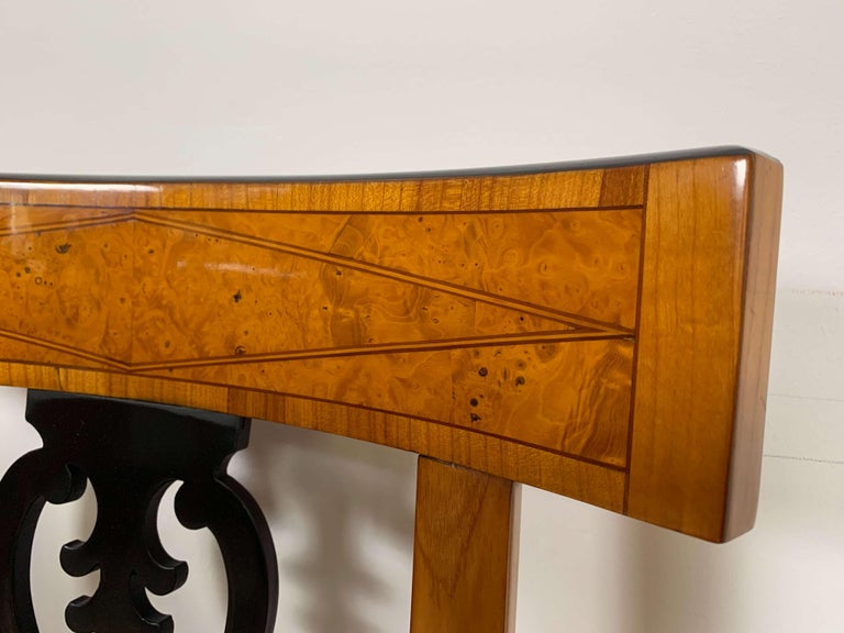 Set of Six Biedermeier Chairs, Cherry Veneer and Ash Roots, Germany, circa 1820 For Sale 5