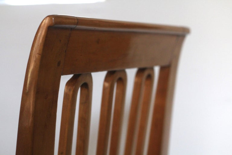 Set of Six Biedermeier Dining Chairs, Garland Inlays, South Germany, circa 1820 For Sale 8