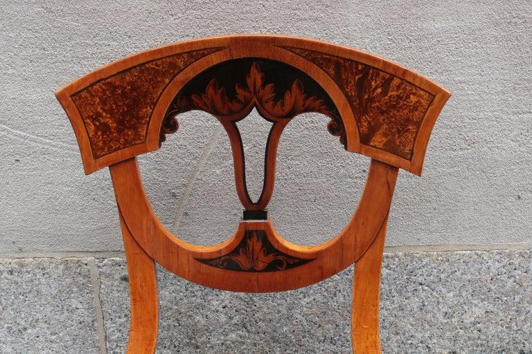 German Set of Six Biedermeier Side Chairs For Sale