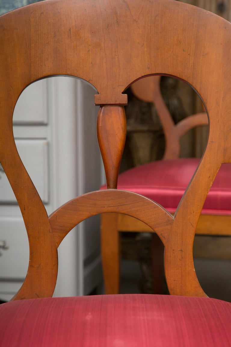 Set of Six Biedermeier Style Side Chairs For Sale 3