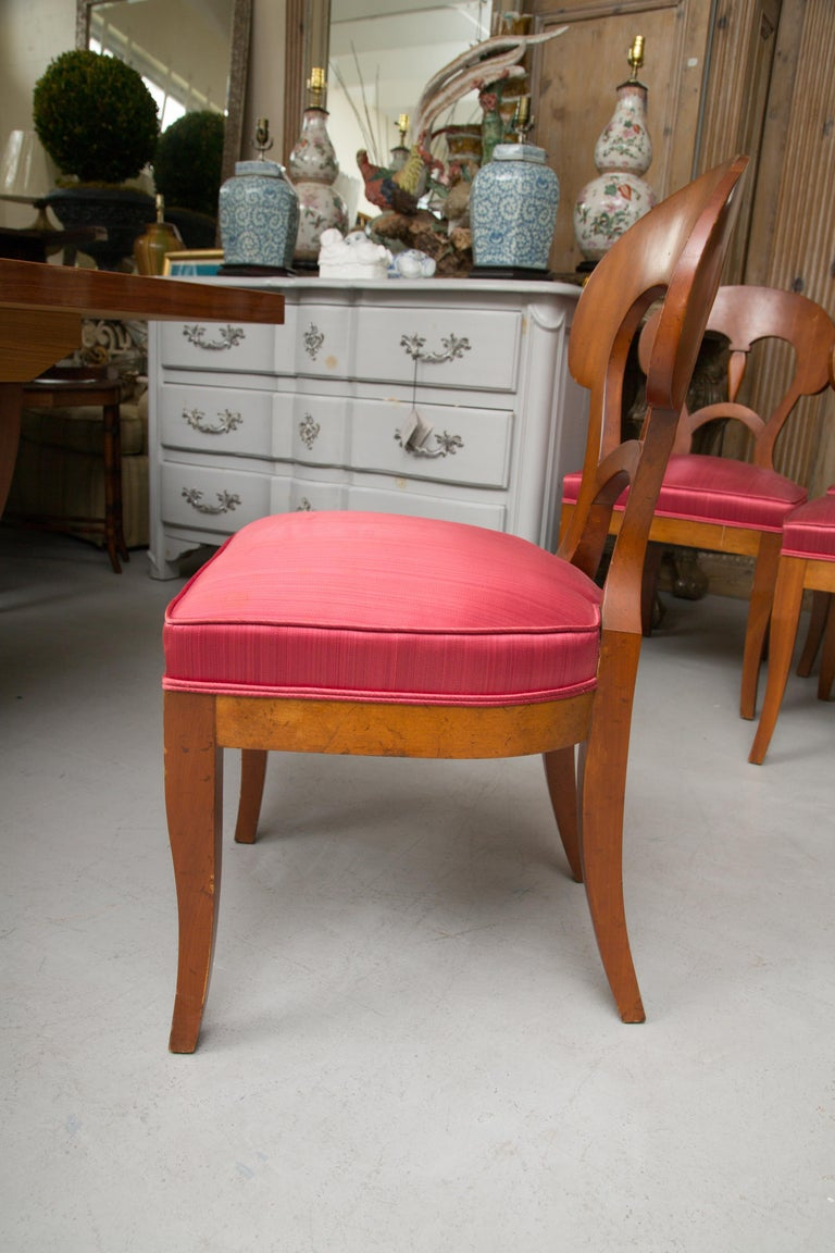 Set of Six Biedermeier Style Side Chairs For Sale 4