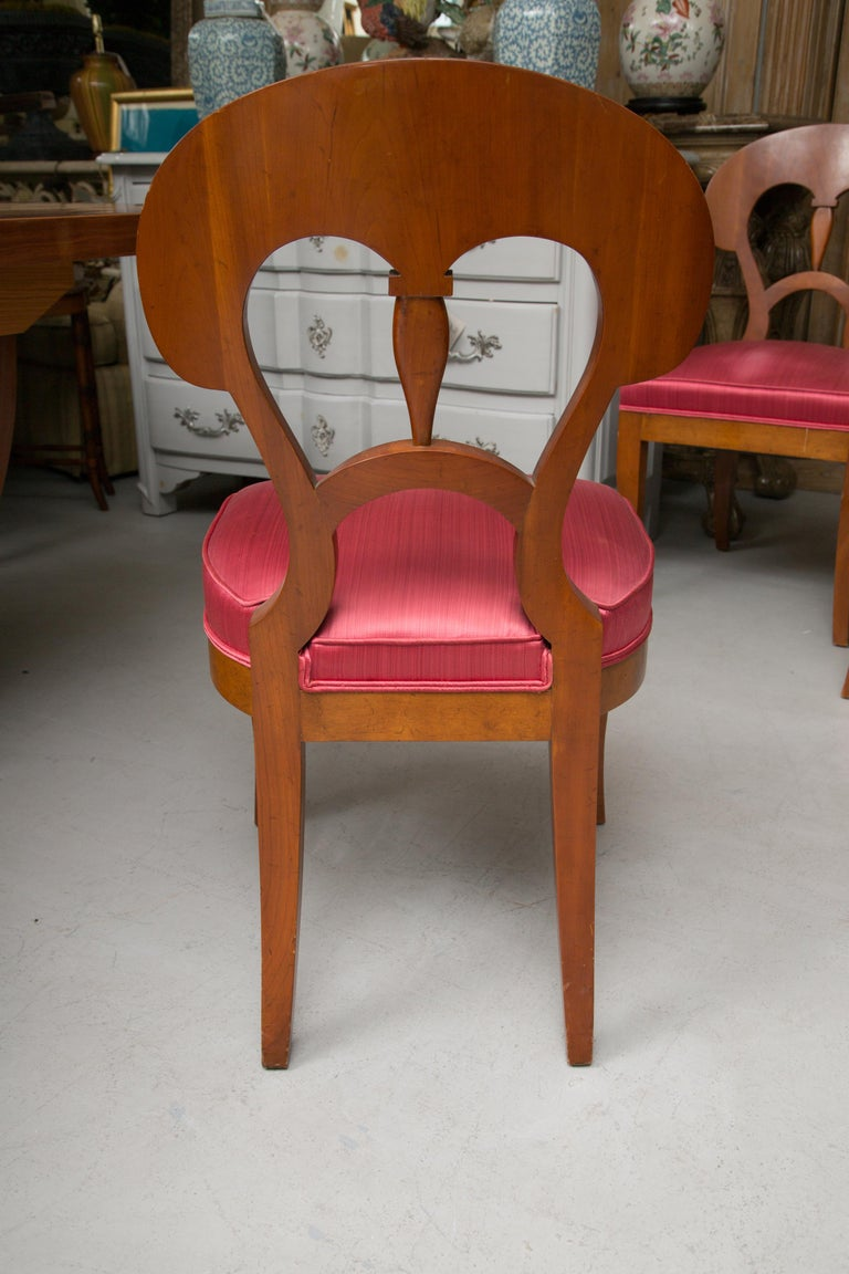 Set of Six Biedermeier Style Side Chairs For Sale 5