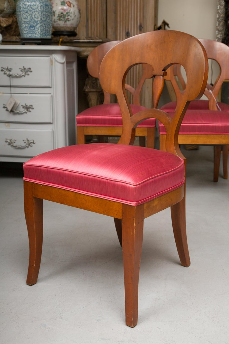 Set of Six Biedermeier Style Side Chairs For Sale 6