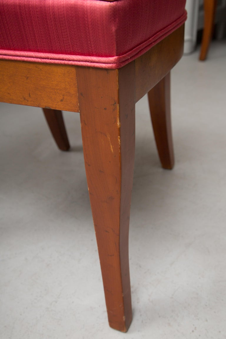 Hand-Crafted Set of Six Biedermeier Style Side Chairs For Sale