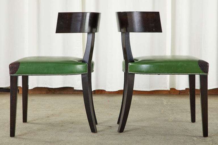 Set of Six Billy Haines Attributed Hollywood Regency Dining Chairs For Sale 4