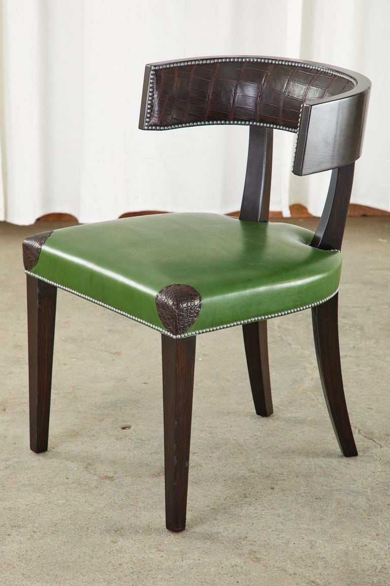 Set of Six Billy Haines Attributed Hollywood Regency Dining Chairs For Sale 6