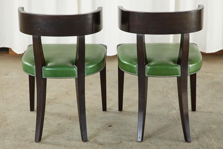 Set of Six Billy Haines Attributed Hollywood Regency Dining Chairs For Sale 13