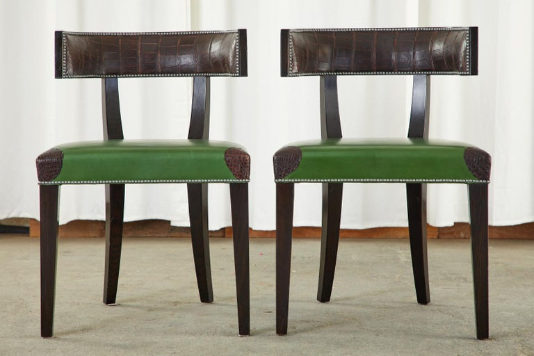 Set of Six Billy Haines Attributed Hollywood Regency Dining Chairs For Sale 2