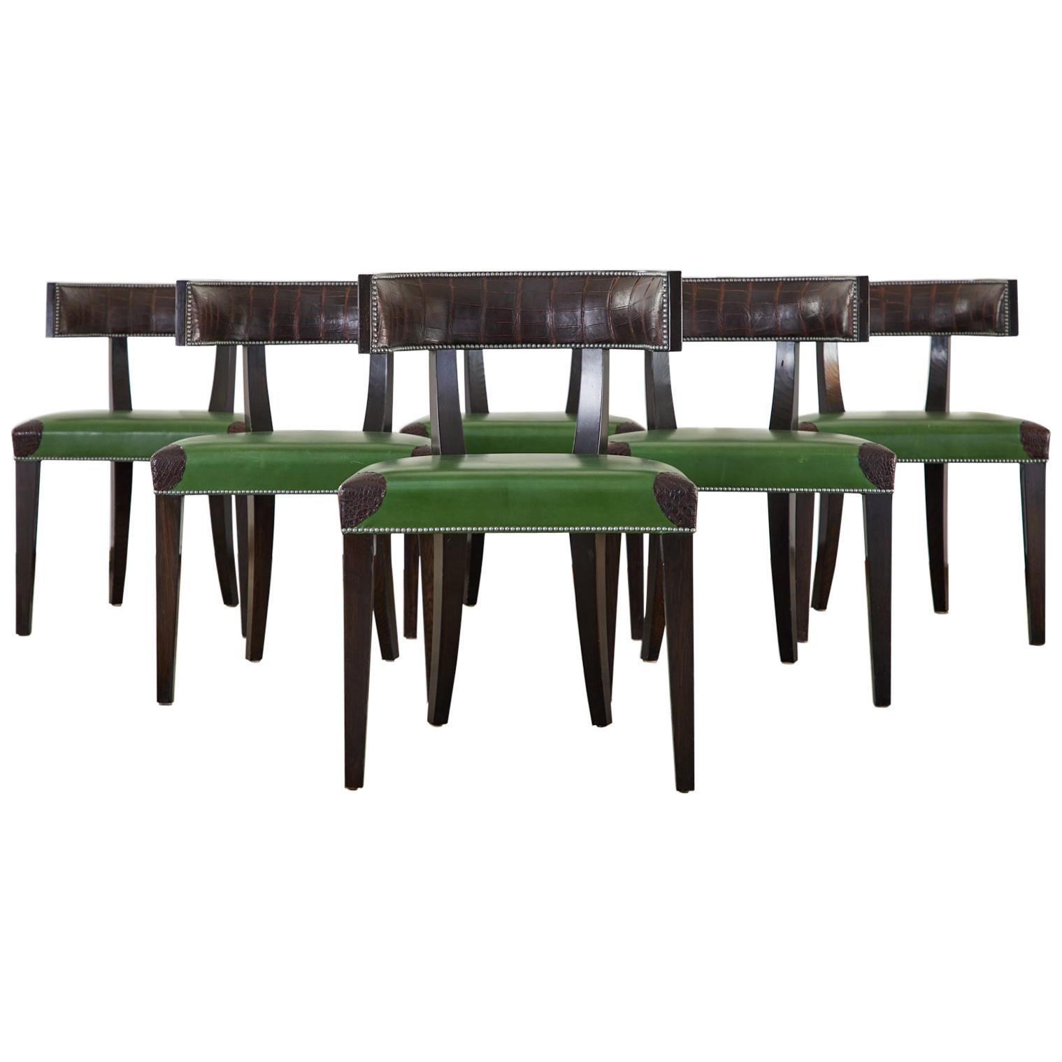 Set of Six Billy Haines Attributed Hollywood Regency Dining Chairs